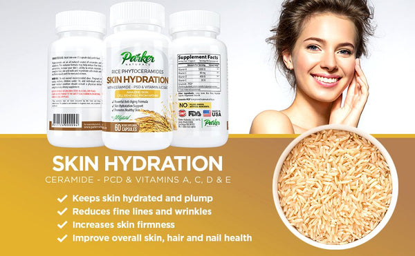 #1 Best Phytoceramides - Clinically Proven Skin Restoring Supplement - Parker Naturals - Journey to a better you.