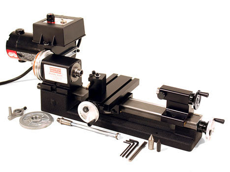 "Sherline 3.5 x 8"" Lathe w/ Adjustable Zero Handwheels - Series 4500"