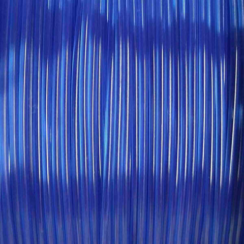 Premium Translucent Blue PLA Filament, 1.75mm, 1KG Spool
