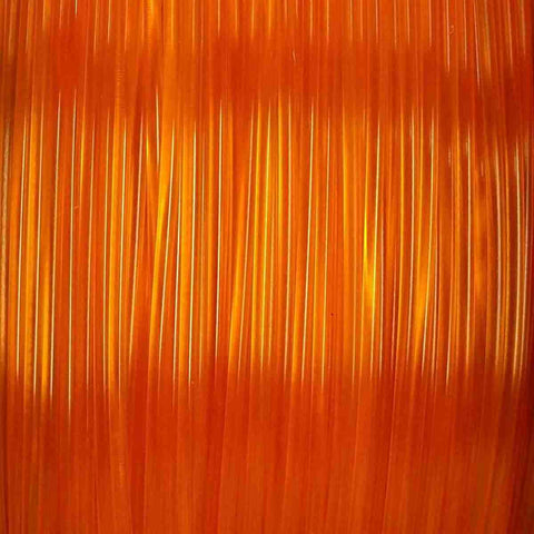 Premium Translucent Orange PLA Filament, 1.75mm, 1KG Spool