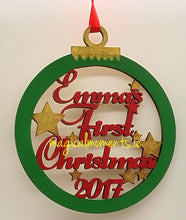Baby's First Christmas  Bauble (Personalised) - Magical Moments Ireland