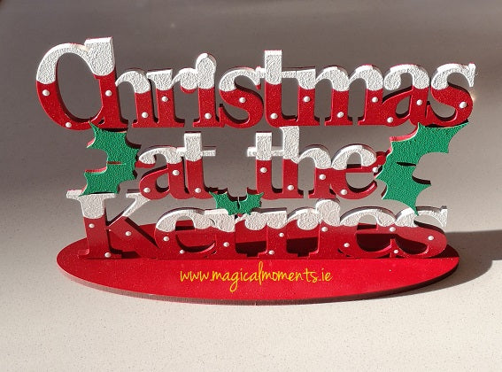 Personalised Laser Cut Christmas Signs (With Stand)