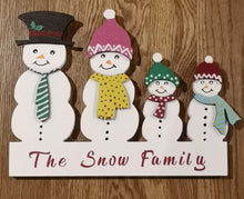 Snow-person Family Stand -Personalised - Magical Moments Ireland