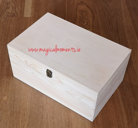 Plain Wooden Keepsake Box (Extra Large) - Magical Moments Ireland