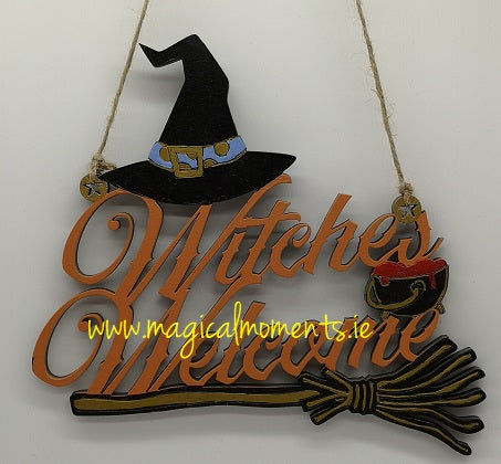 Witches Welcome Halloween Sign - Magical Moments Ireland