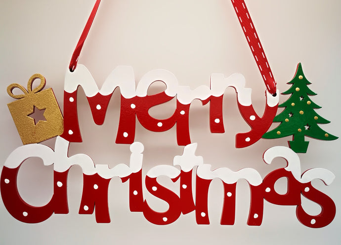 Merry Christmas Hanging Sign - Magical Moments Ireland