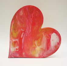 Heart Gift - Marbled Acrylic Heart Pours | - Magical Moments Ireland