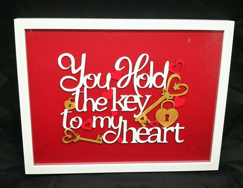 Hold The Key To My Heart Frame - Magical Moments Ireland