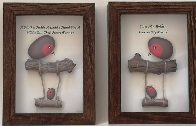 Robin On A  Swing - Stone Pictures (Personalised) - Magical Moments Ireland