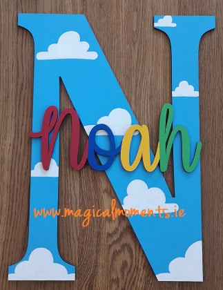 Letter & Name Plaque for wall or door  -Toy Story Style