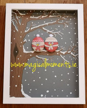 Stone Owls - Box Framed Large - Magical Moments Ireland