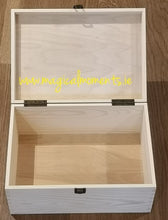 Plain Wooden Keepsake Box (Large) - Magical Moments Ireland
