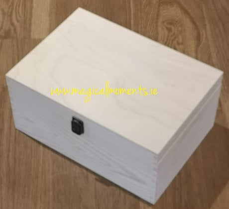Plain Wooden Keepsake Box (Large)