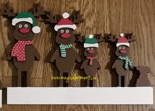 Personalised Christmas Sign - Reindeer Family
