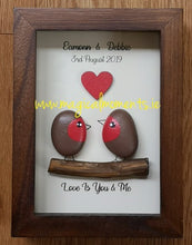 Robin Love Couple - Stone Picture (personalised) - Magical Moments Ireland