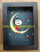 On the Moon Painted Stone Picture (Box Frames) - Magical Moments Ireland