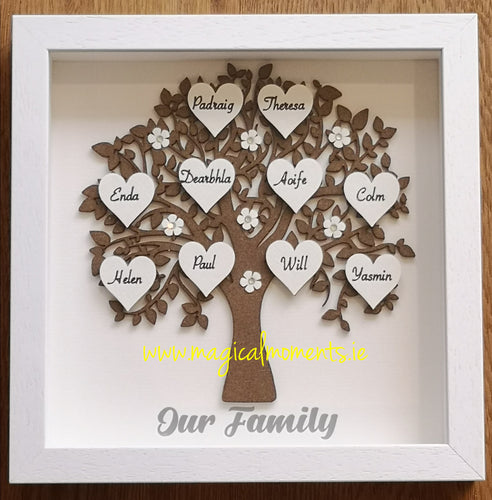 Family Tree Craft Frame - Personalised / Medium