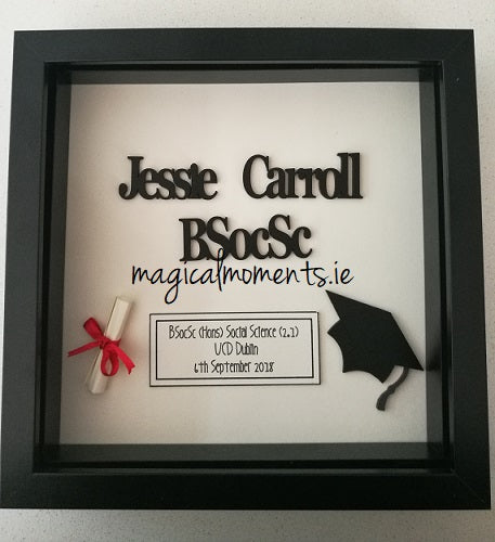 Graduation Gift Box Frame - Magical Moments Ireland