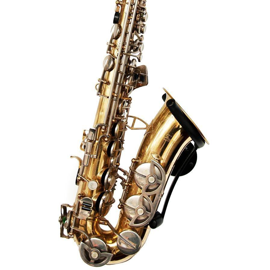 Wall-mounted saxophone stand for alto and tenor – Locoparasaxo