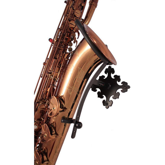 Saxophone stand Prince Bari made by Locoparasaxo wall-mounted stands with instrument