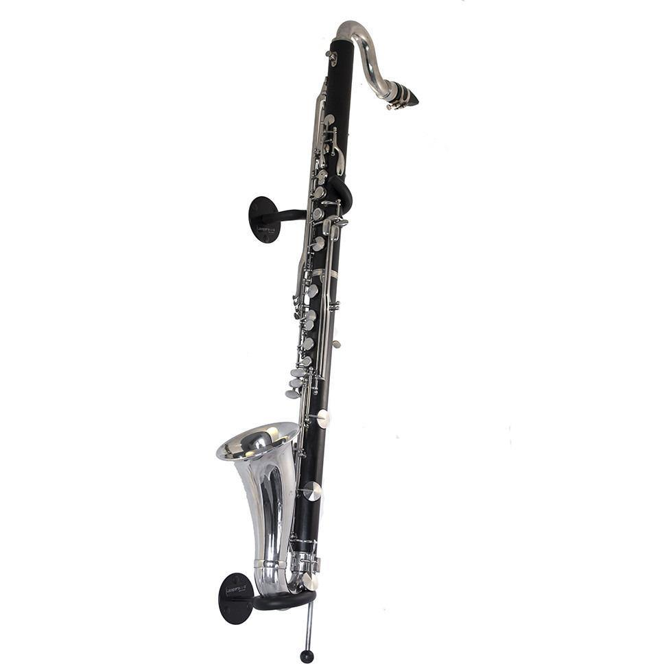 Wall-mounted stand for bass clarinet – Locoparasaxo