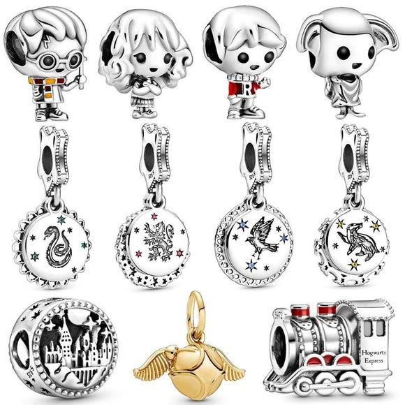 925 Sterling Silver Harry Potter Charm Beads Collection - KHAISTA