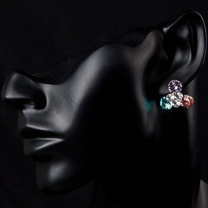 Flowers Stellux Austrian Crystal Stud Earrings -KPE0033