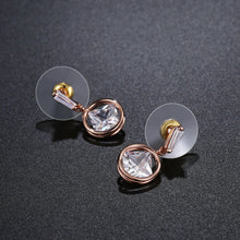 Load image into Gallery viewer, Rose Gold Color Drop Earrings -KPE0341