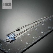 Load image into Gallery viewer, Blue Dragonfly Pendant Necklace KPN0153