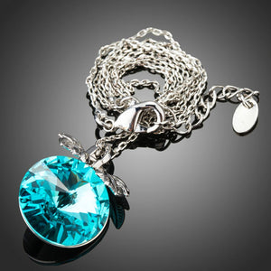Sea Blue Austrian Crystal Necklace KPN0233