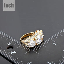 Load image into Gallery viewer, Golden Cubic Zirconia Ring -KFR0011
