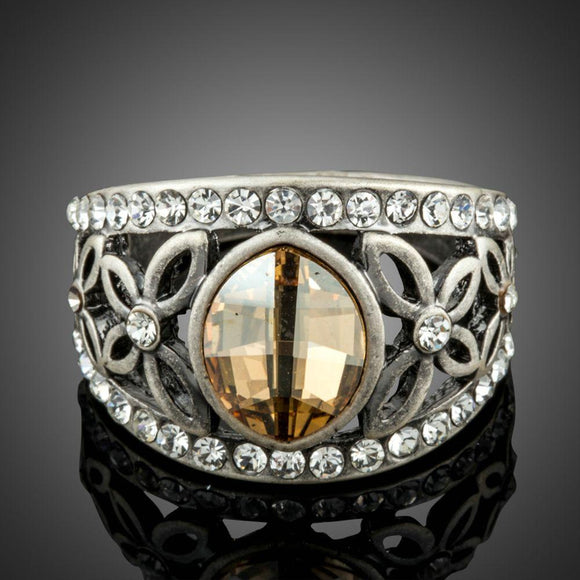 Ancient Silver Color Ring For Women - KHAISTA Fashion Jewellery