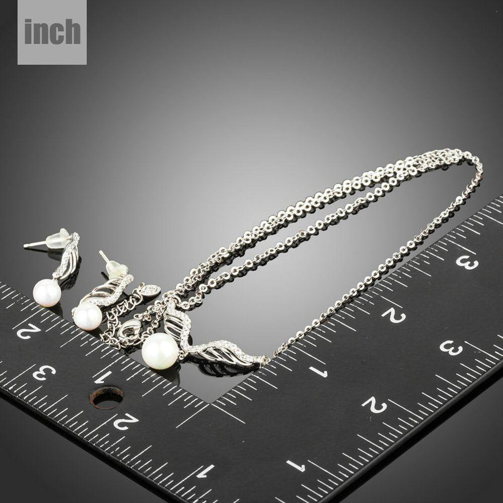 Angel Wings Pearl Jewelry Set-khaista-KJ0230-3