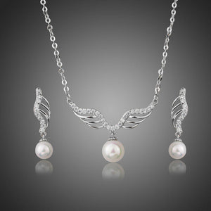 Angel Wings Pearl Jewelry Set-khaista-KJ0230-1