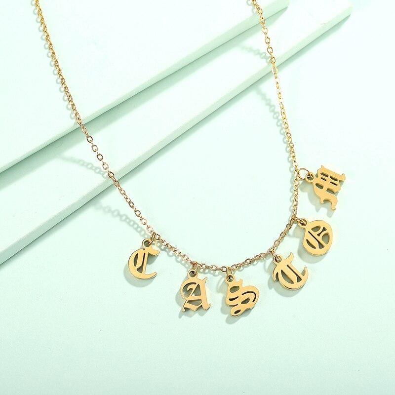 Anglo Saxon Personalized Name Necklace - KHAISTA