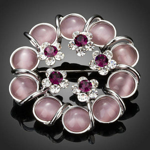 Artistic Beads With Flowers Pin Brooch - KHAISTA Fashion Jewellery