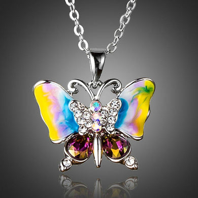 Artistic Butterfly Pendant Necklace - KHAISTA Fashion Jewellery