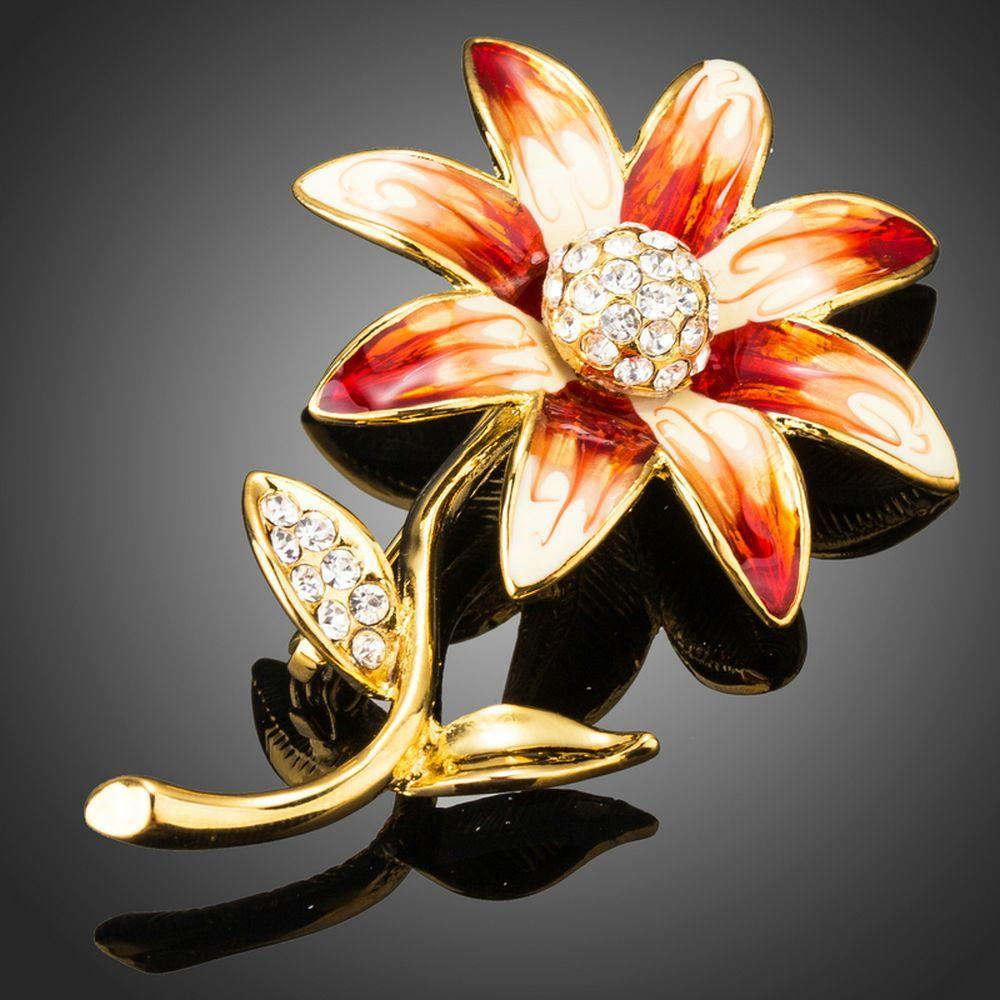 Artistic Daisy Flower Brooch Pin - KHAISTA Fashion Jewellery