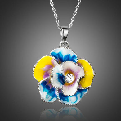 Artistic Flower Necklace KPN0162 - KHAISTA Fashion Jewellery