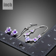 Load image into Gallery viewer, Artistic Flower Stud Earrings and Pendant Necklace Jewelry Set - KHAISTA Fashion Jewellery