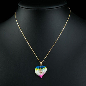 Artistic Heart Pendant Necklace KPN0208 - KHAISTA Fashion Jewellery