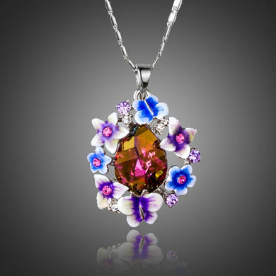 Artistic Multicolour Stellux Austrian Necklace KPN0175 - KHAISTA Fashion Jewellery