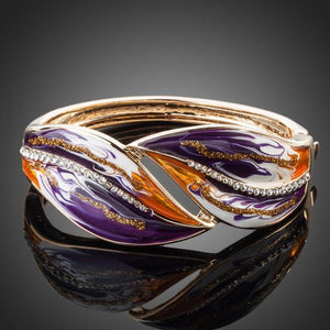 Artistic Purple and Caramel Shade Bangle - KHAISTA Fashion Jewellery