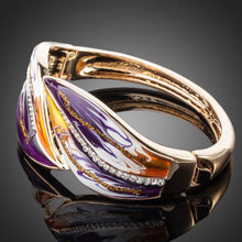 Load image into Gallery viewer, Artistic Purple and Caramel Shade Bangle - KHAISTA Fashion Jewellery