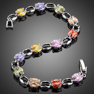 Artistic Toggle Clasp Cubic Zirconia Bracelet - KHAISTA Fashion Jewellery