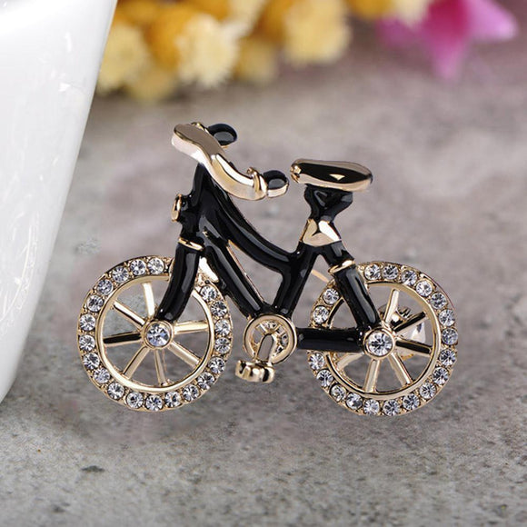 Bicycle Lover Brooch - KHAISTA Fashion Jewellery