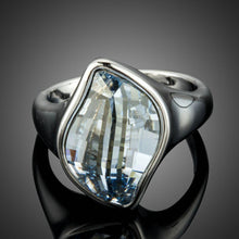 Load image into Gallery viewer, Big Blue Crystals Finger Ring - KHAISTA Fashion Jewellery