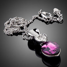Load image into Gallery viewer, Big Purple Crystal Pendant Necklace - KHAISTA Fashion Jewellery