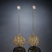 Load image into Gallery viewer, Big Round Dangle Long Earrings -KPE0398 - KHAISTA Fashion Jewellery