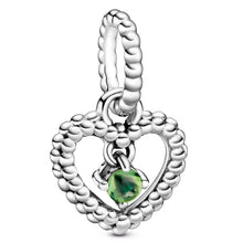 Load image into Gallery viewer, Birthstone Heart Dangle Charms - KHAISTA